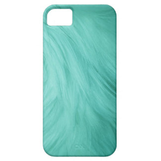 Turquoise blue fur feathery image, iPhone 5 case