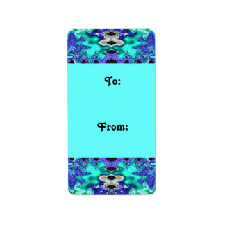 Turquoise blue Gift tags Personalized Address Labels