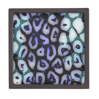 Turquoise Blue Glowing Cheetah Jewelry Box
