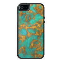 Turquoise Blue Gold Marble OtterBox iPhone 5/5s/SE Case