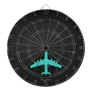 Turquoise; Blue Green Airplane Dartboards