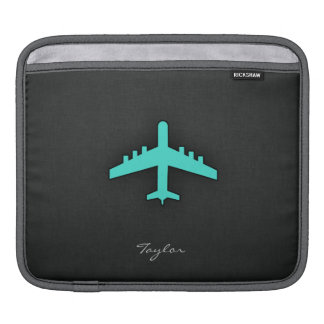 Turquoise; Blue Green Airplane Sleeve For iPads