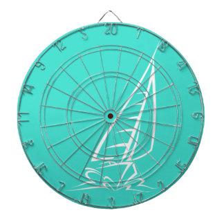 Turquoise; Blue Green, Aqua Sailing Dart Board