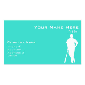 Turquoise; Blue Green Baseball, Softball Double-Sided Standard Business Cards (Pack Of 100)