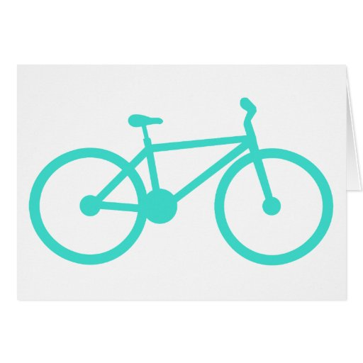 Turquoise; Blue Green Bicycle Greeting Card