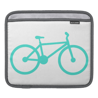 Turquoise; Blue Green Bicycle Sleeve For iPads