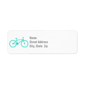 Turquoise; Blue Green Bicycle Label