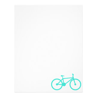 Turquoise; Blue Green Bicycle Letterhead Design