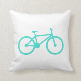 Turquoise; Blue Green Bicycle Pillows