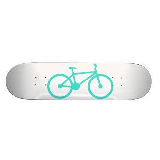 Turquoise; Blue Green Bicycle Skateboard Deck