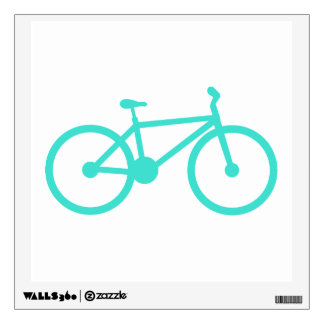 Turquoise; Blue Green Bicycle Wall Skin