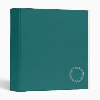 Turquoise blue-green bold 3 ring binder