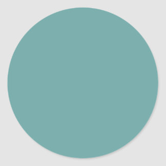 Turquoise blue-green bold classic round sticker