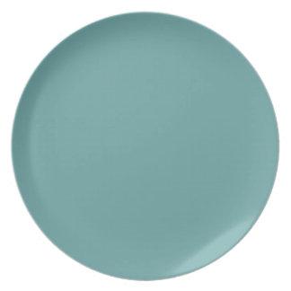Turquoise blue-green bold melamine plate