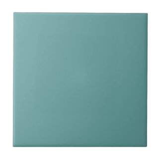 Turquoise blue-green bold small square tile