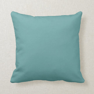 Turquoise blue-green bold throw pillow