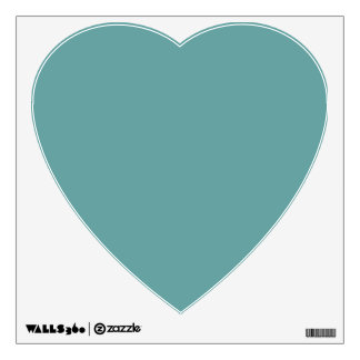 Turquoise blue-green bold wall decal