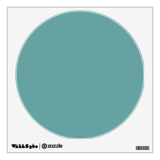 Turquoise blue-green bold wall sticker