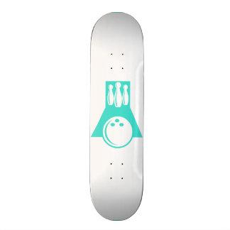 Turquoise; Blue Green Bowling Custom Skateboard