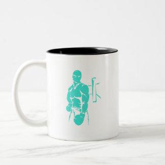 Turquoise; Blue Green Boxing Coffee Mugs