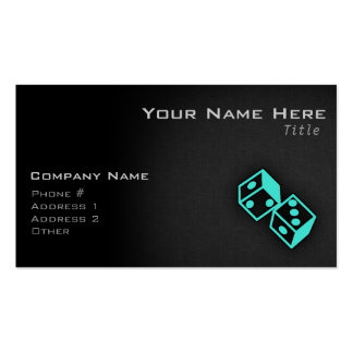 Turquoise, Blue-Green Casino Dice Double-Sided Standard Business Cards (Pack Of 100)
