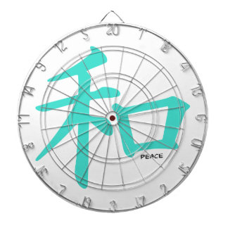 Turquoise, Blue-Green Chinese Peace Sign Dartboards
