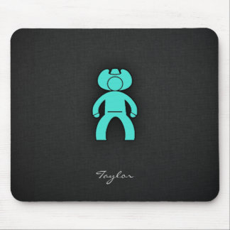 Turquoise; Blue Green Cowboy Mouse Pad