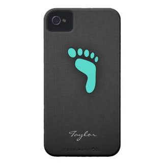 Turquoise, Blue-Green Footprint iPhone 4 Covers