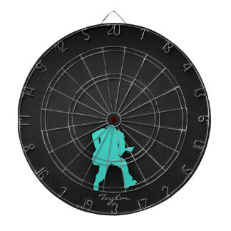 Turquoise; Blue Green Guitar Player Dart Boards