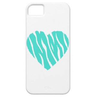Turquoise, Blue-Green Heart iPhone SE/5/5s Case