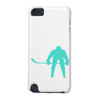 Turquoise; Blue Green Hockey iPod Touch (5th Generation) Case
