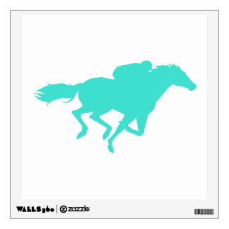 Turquoise; Blue Green Horse Racing Wall Sticker