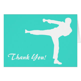 Turquoise; Blue Green Martial Arts Card