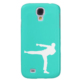 Turquoise; Blue Green Martial Arts Galaxy S4 Cover