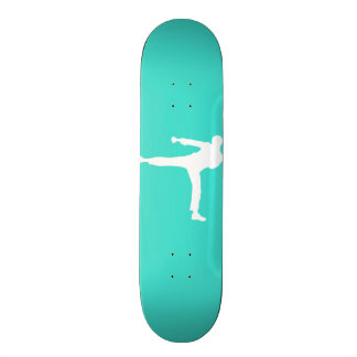 Turquoise; Blue Green Martial Arts Skateboard