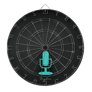Turquoise, Blue-Green Microphone Dartboard