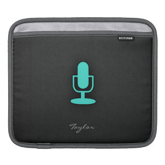 Turquoise, Blue-Green Microphone Sleeve For iPads