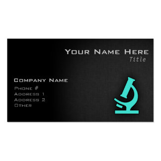 Turquoise; Blue Green Microscope Business Cards