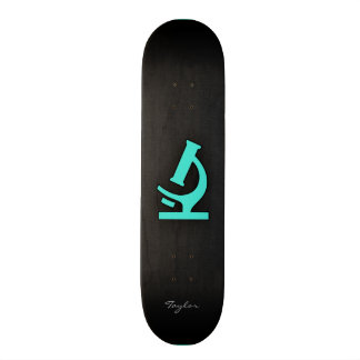 Turquoise; Blue Green Microscope Skate Board Deck