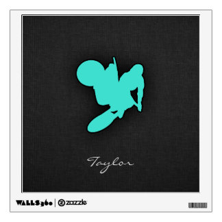 Turquoise; Blue Green Motocross Wall Decal