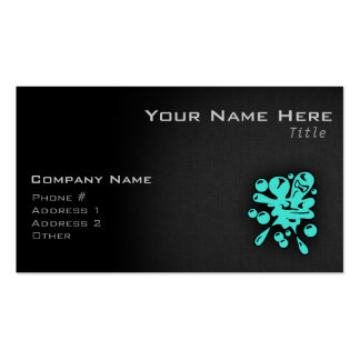 Turquoise; Blue Green Paintball Business Card