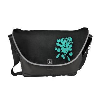Turquoise; Blue Green Paintball Messenger Bag