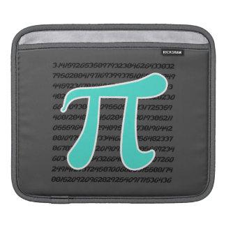 Turquoise, Blue-Green Pi Symbol iPad Sleeves