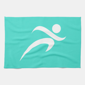 Turquoise; Blue Green Running Kitchen Towel