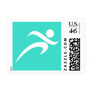 Turquoise Blue Green Running Postage