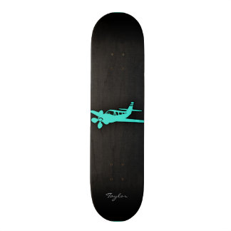 Turquoise Blue Green Small Airplane Skateboards