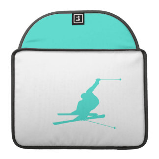 Turquoise; Blue Green Snow Ski Sleeve For MacBooks