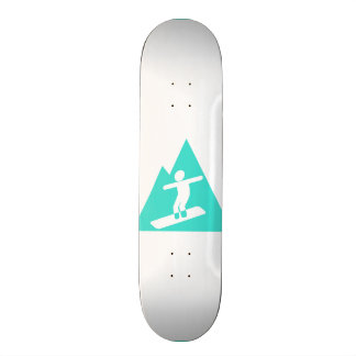 Turquoise; Blue Green Snowboarding Skateboard Deck