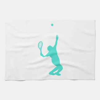 Turquoise; Blue Green Tennis Hand Towel