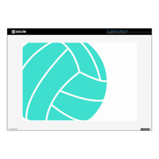 "Turquoise; Blue Green Volleyball 15"" Laptop Decal"